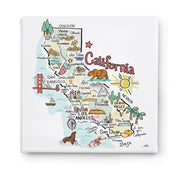 California Square Canvas Art