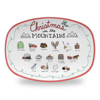 Christmas in the Mountains Platter