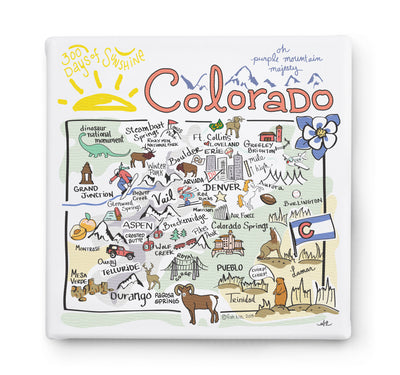 Colorado Square Canvas Art