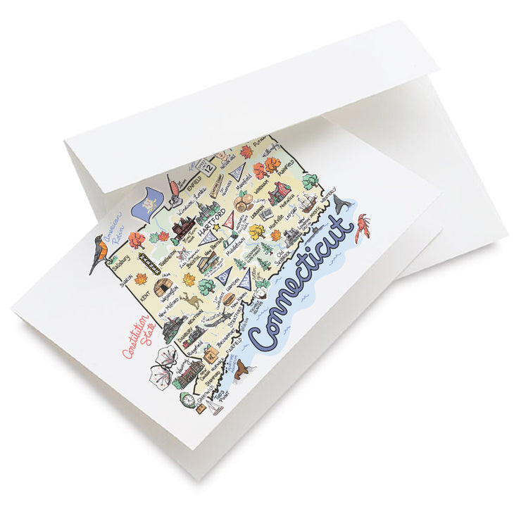 Connecticut Map Greeting Card