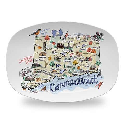 Connecticut Map Platter