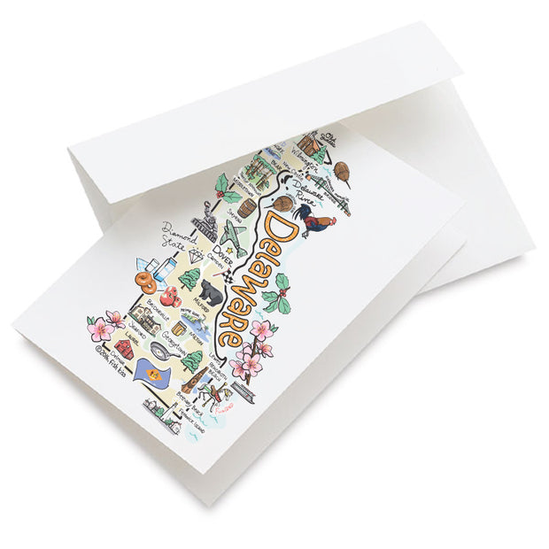 Delaware Map Greeting Card