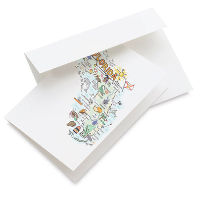 Florida Map Greeting Card