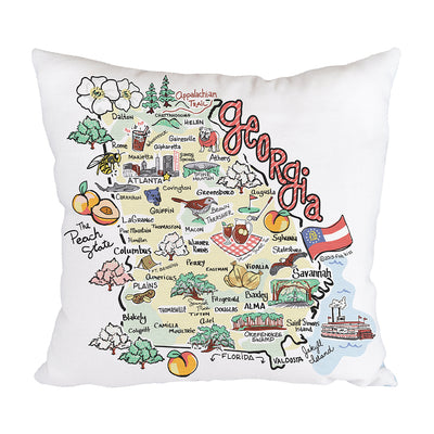 Georgia Map Pillow