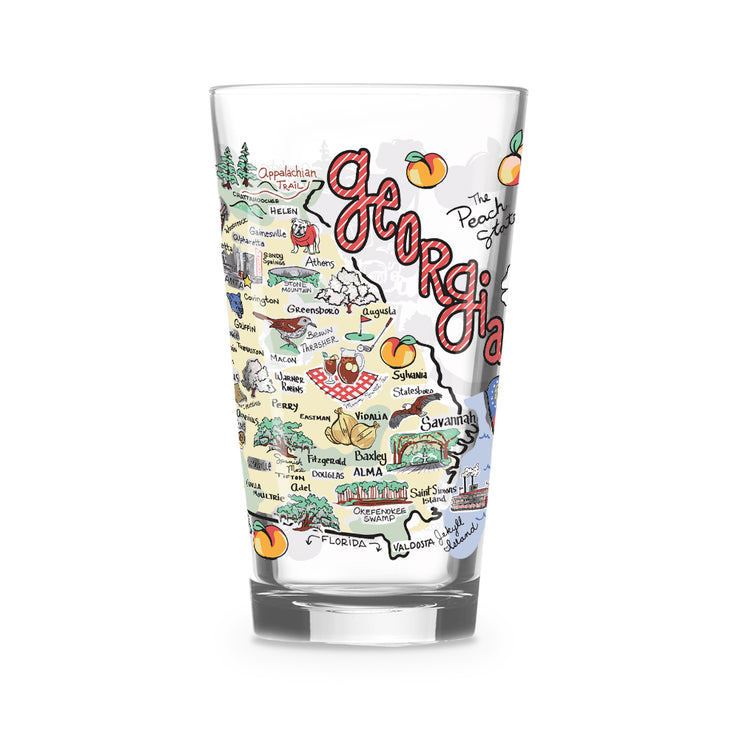 Georgia 16 oz. Glass