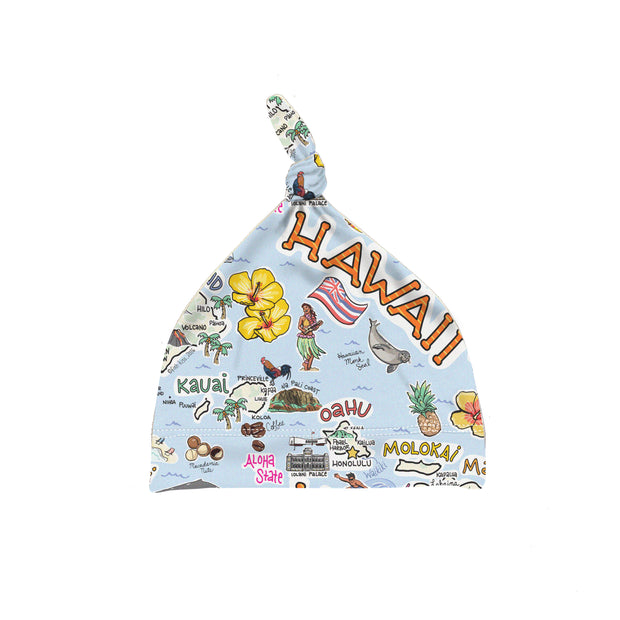 ORGANIC COTTON - Hawaii Map Baby Hat