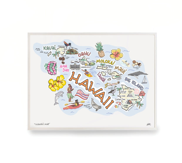Hawaii Map Print