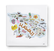 Hawaii Square Canvas Art