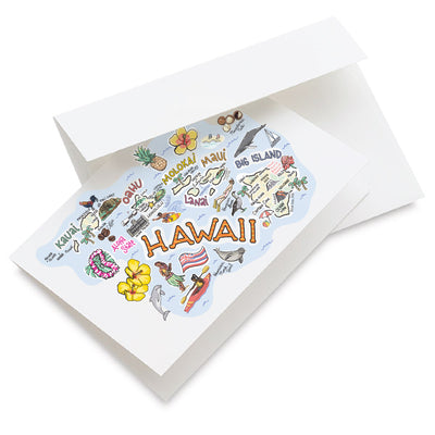 Hawaii Map Greeting Card