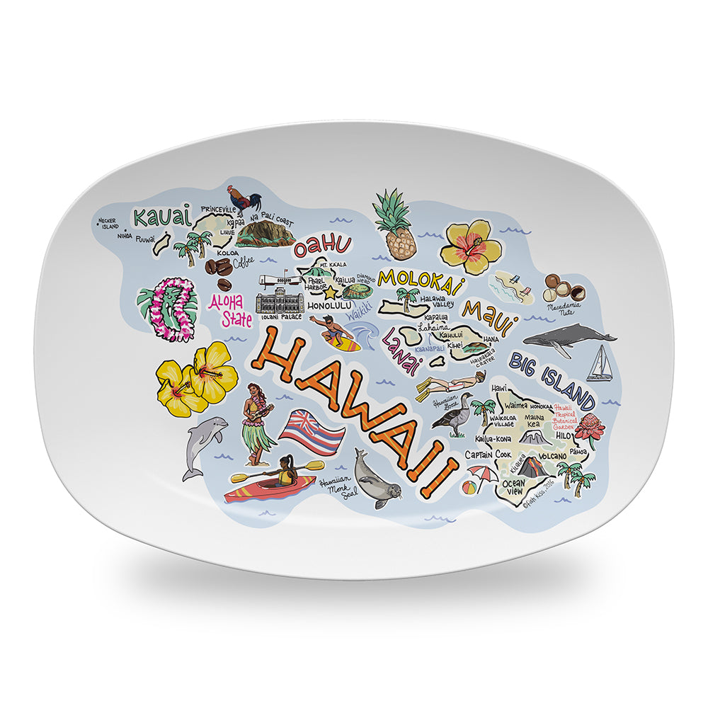 Hawaii Map Platter