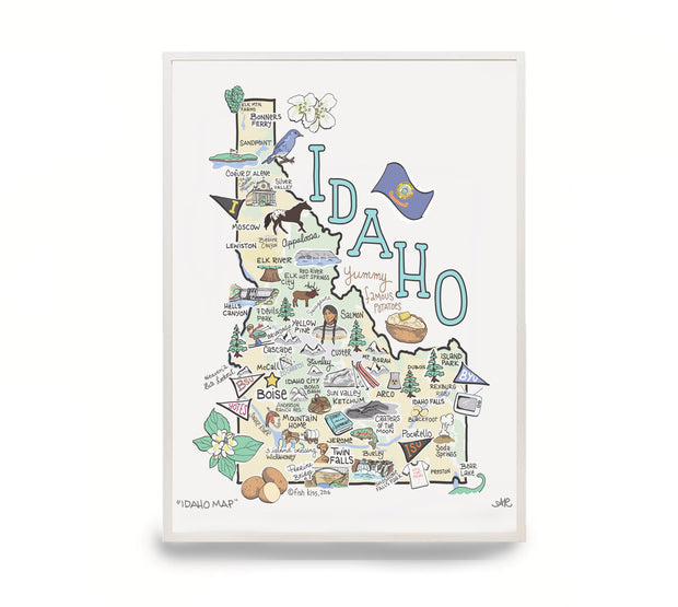 Idaho Map Print