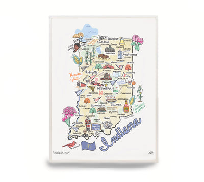 Indiana Map Print