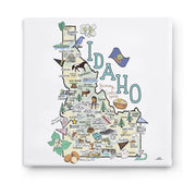 Idaho Square Canvas Art
