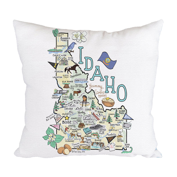 Idaho Map Pillow