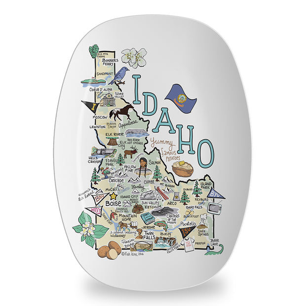 Idaho Map Platter