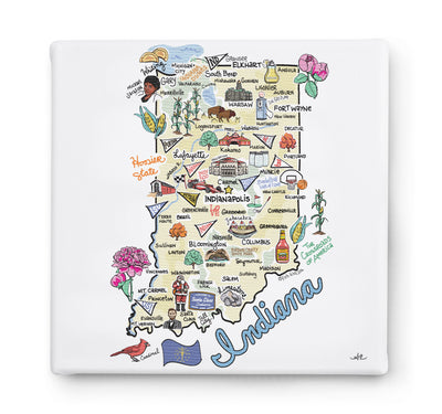 Indiana Square Canvas Art
