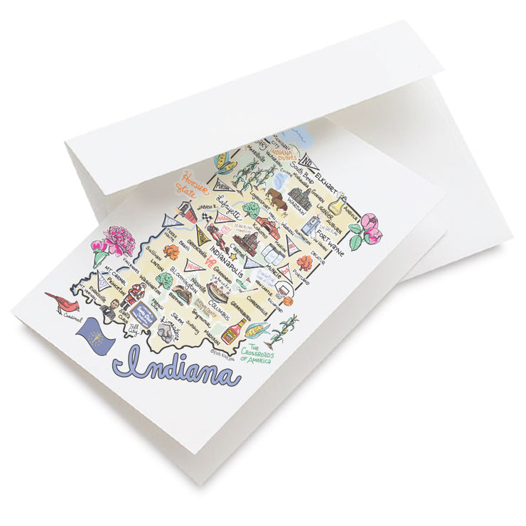 Indiana Map Greeting Card