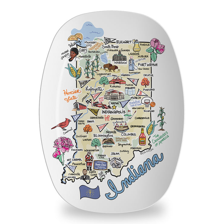 Indiana Map Platter