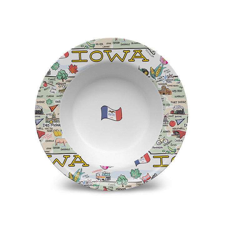 Iowa Map Bowl