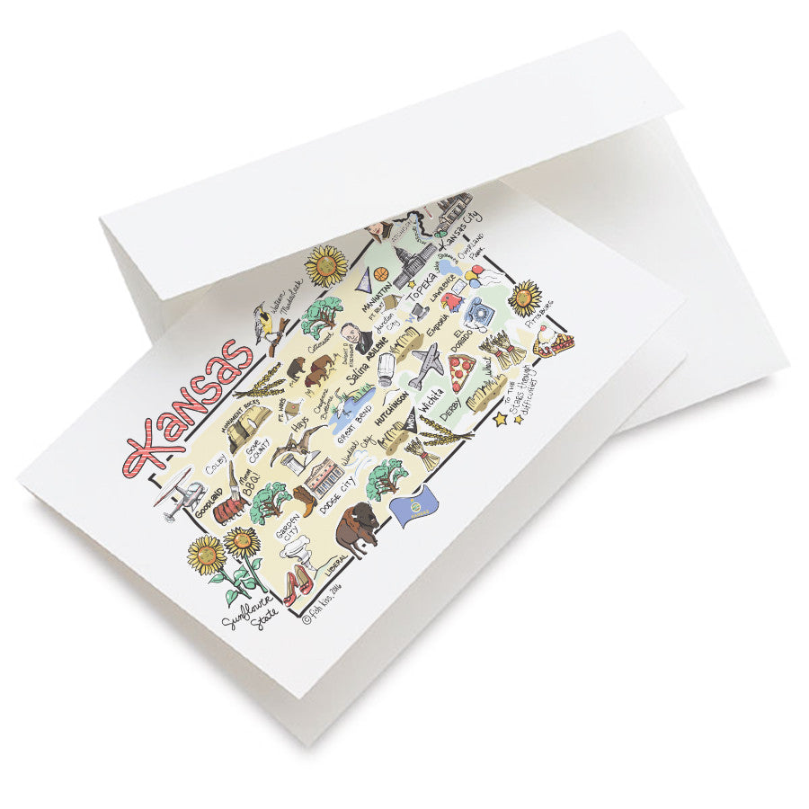 Kansas Map Greeting Card