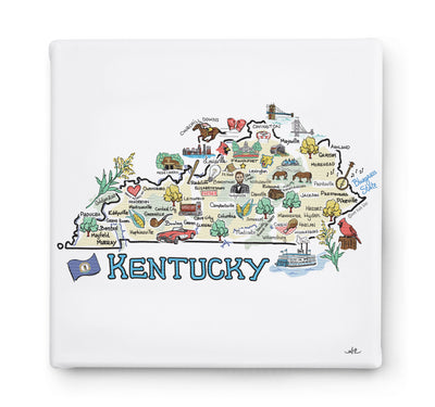 Kentucky Square Canvas Art