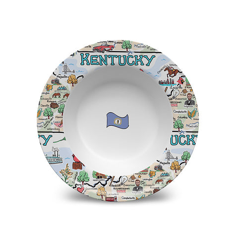 Kentucky Map Bowl