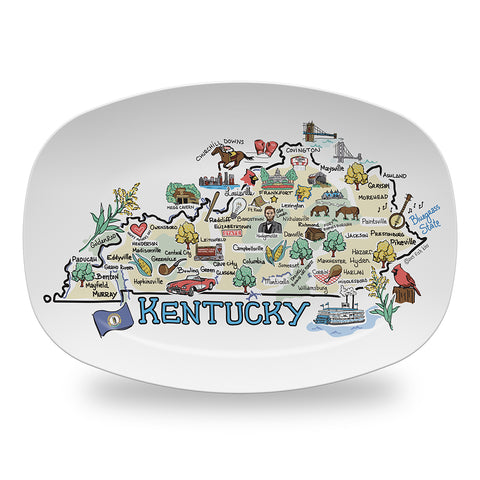 Kentucky Map Platter