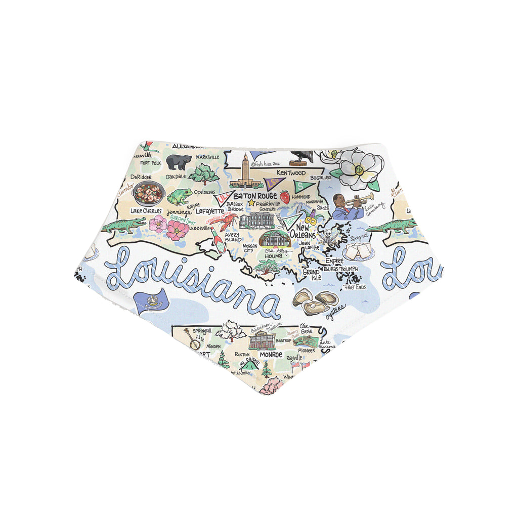 Louisiana Map Bandana Bib - PIMA