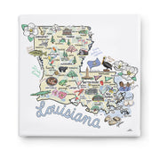 Louisiana Square Canvas Art