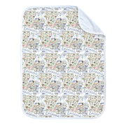 Louisiana Map Baby Blanket - PIMA