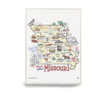 Missouri Map Print