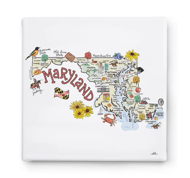 Maryland Square Canvas Art