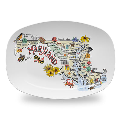 Maryland Map Platter