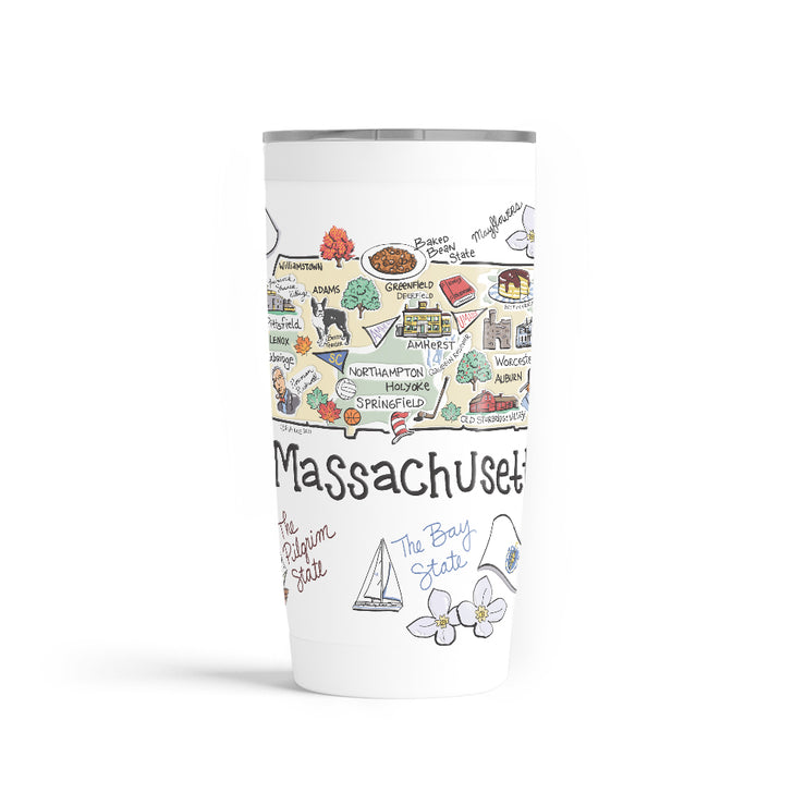 Massachusetts 20 oz. Tumbler