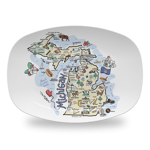Michigan Map Platter