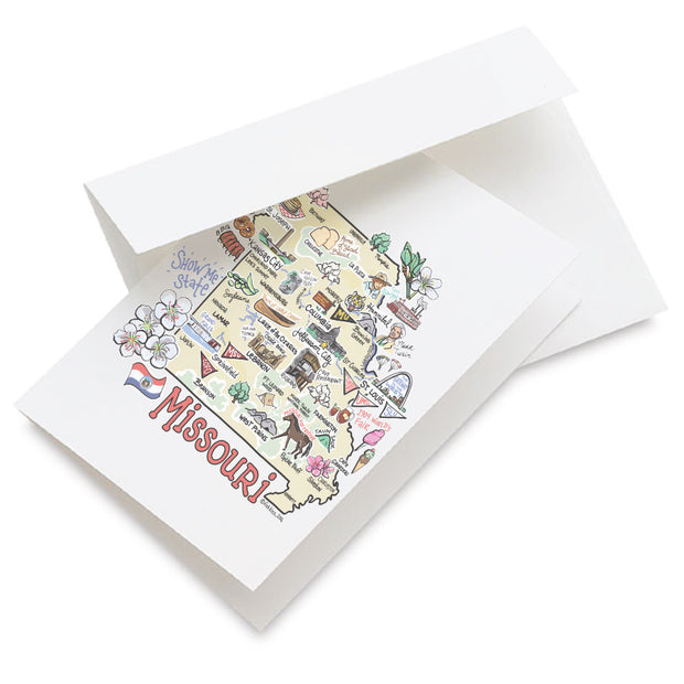 Missouri Map Greeting Card