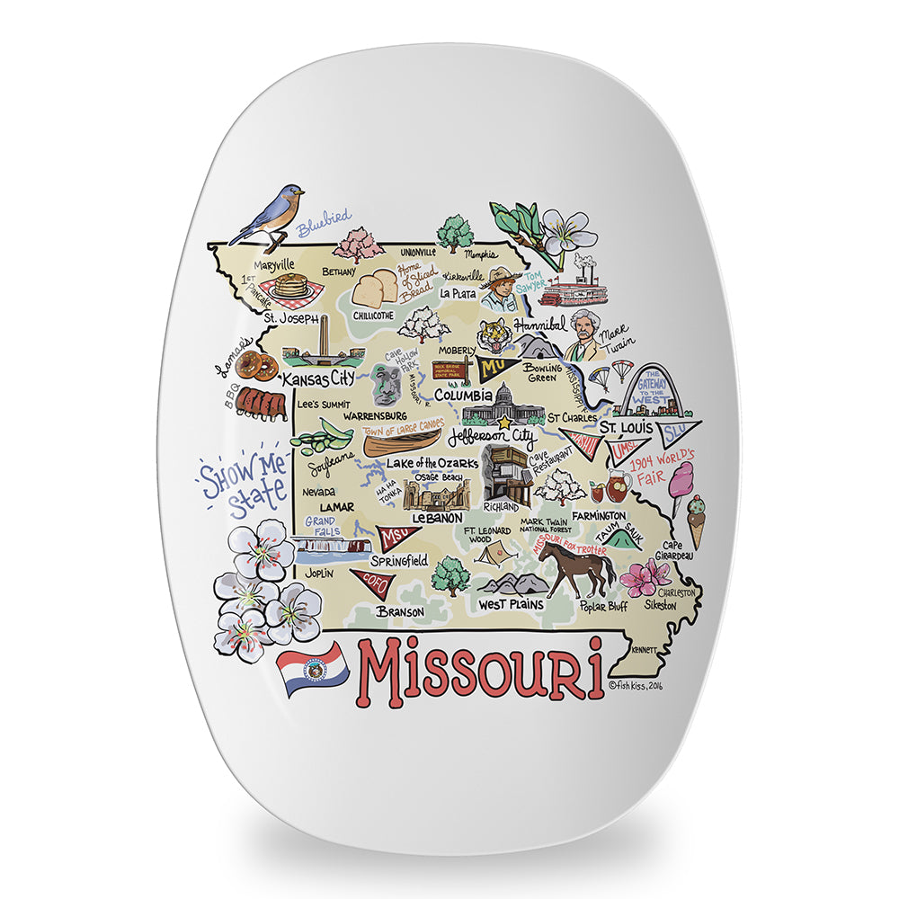 Missouri Map Platter