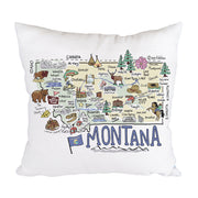 Montana Map Pillow