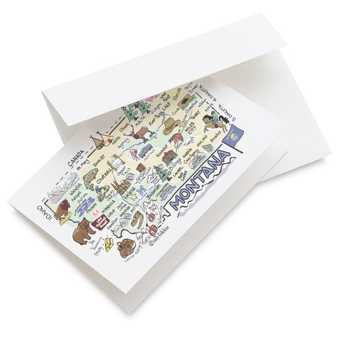 Montana Map Greeting Card