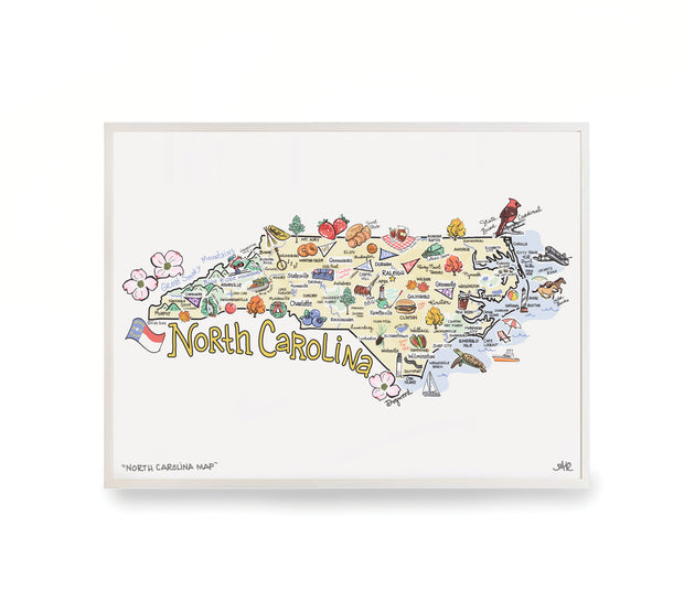 North Carolina Map Print