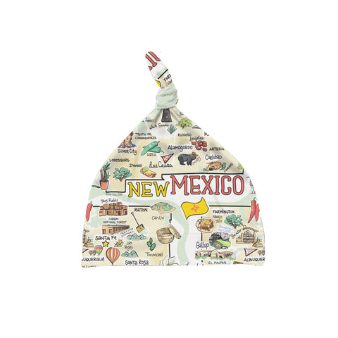 ORGANIC COTTON - New Mexico Map Baby Hat