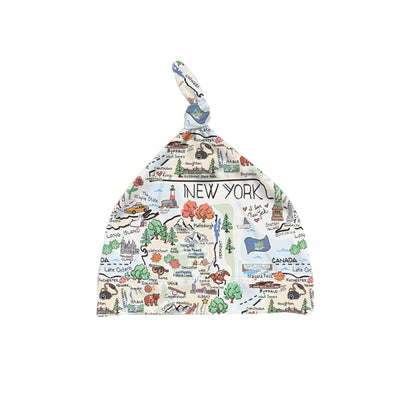 ORGANIC COTTON - New York Map Baby Hat