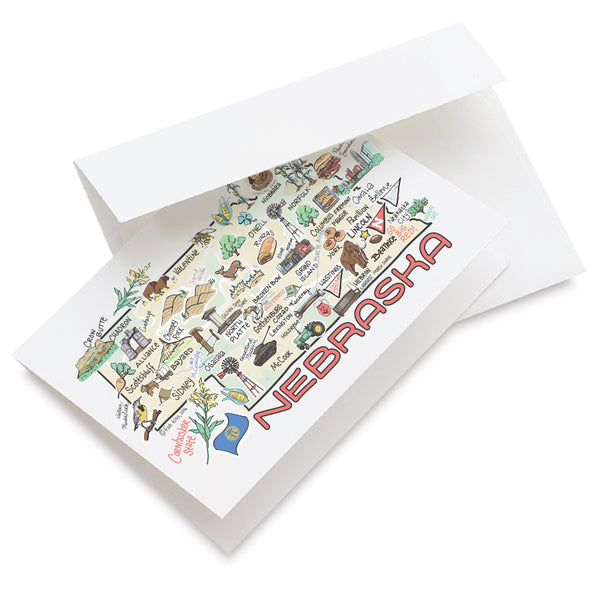 Nebraska Map Greeting Card