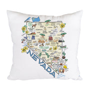 Nevada Map Pillow