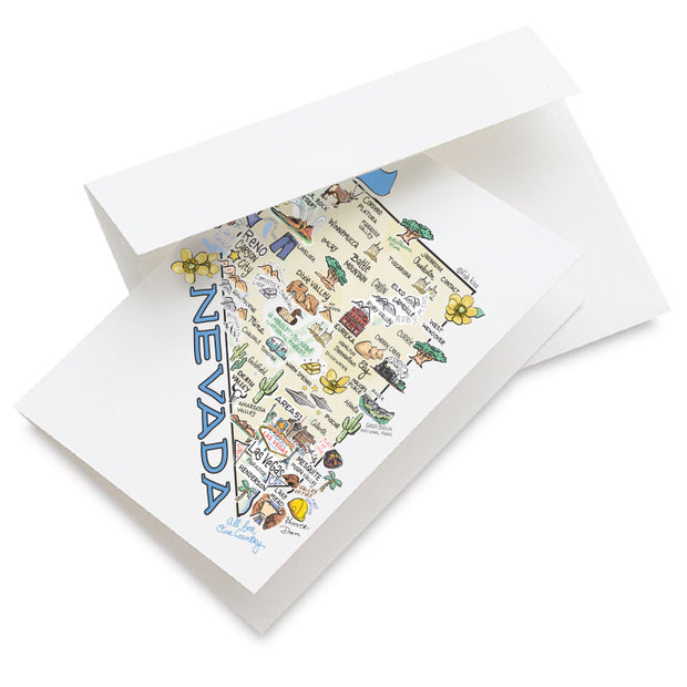 Nevada Map Greeting Card
