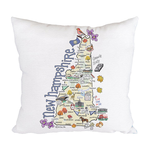 New Hampshire Map Pillow