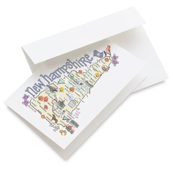 New Hampshire Map Greeting Card