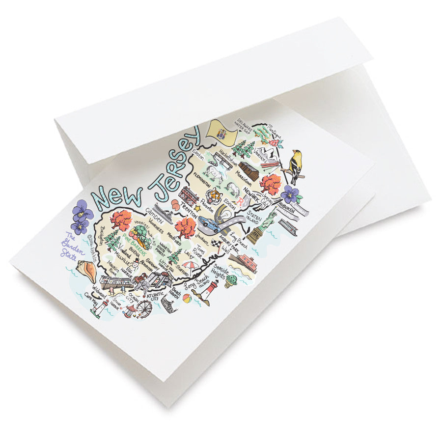 New Jersey Map Greeting Card