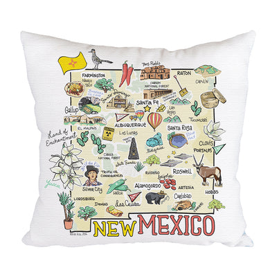 New Mexico Map Pillow