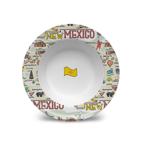 New Mexico Map Bowl